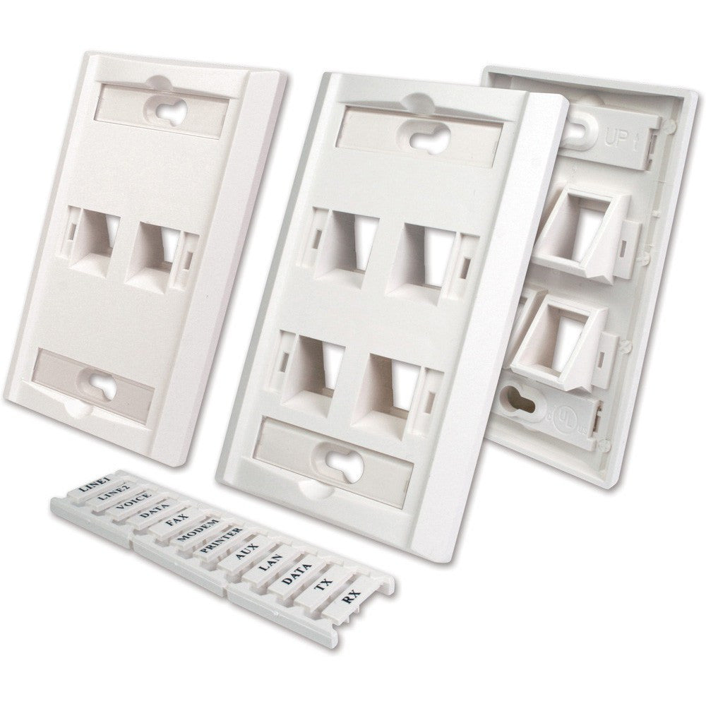 Wall Plates with Labeling Windows - Timberwolf Supply