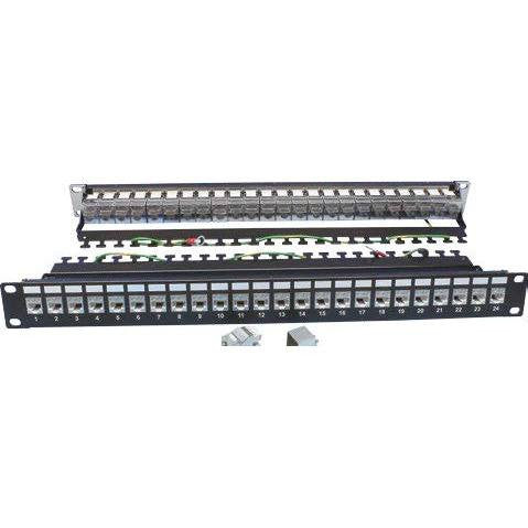 CAT6A FTP Shielded Patch Panels with Cable Mangement - Timberwolf Supply