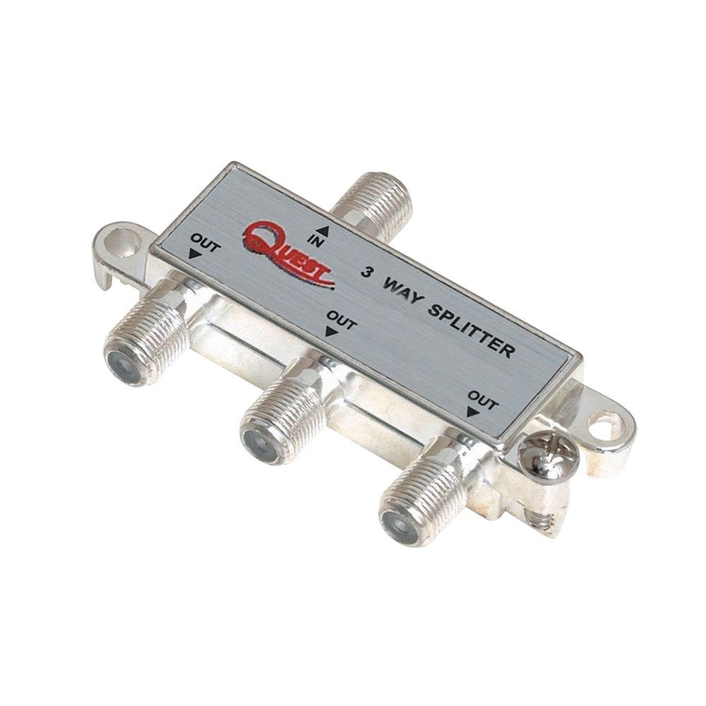 1 GHz 3 Way Cable TV Horizontal Splitter - Timberwolf Supply