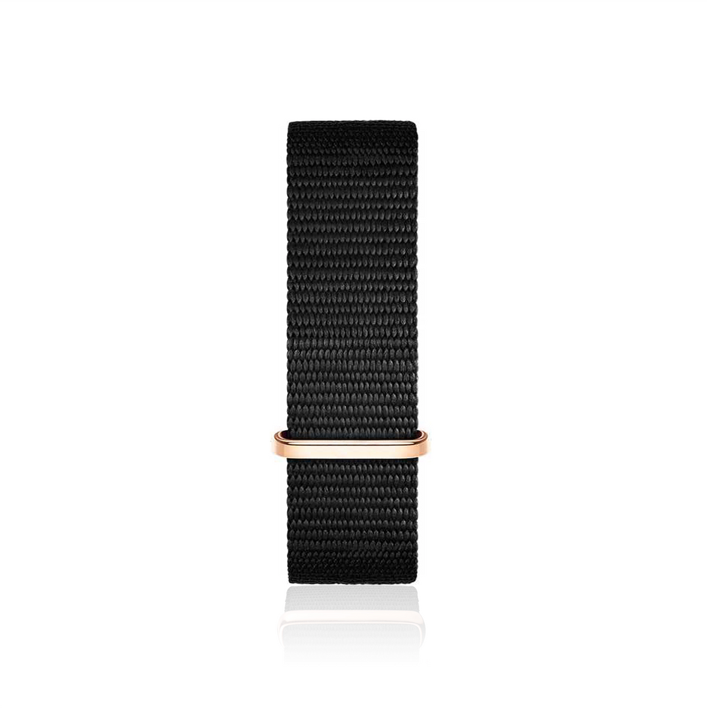 Black Nato Strap (Rose Gold)