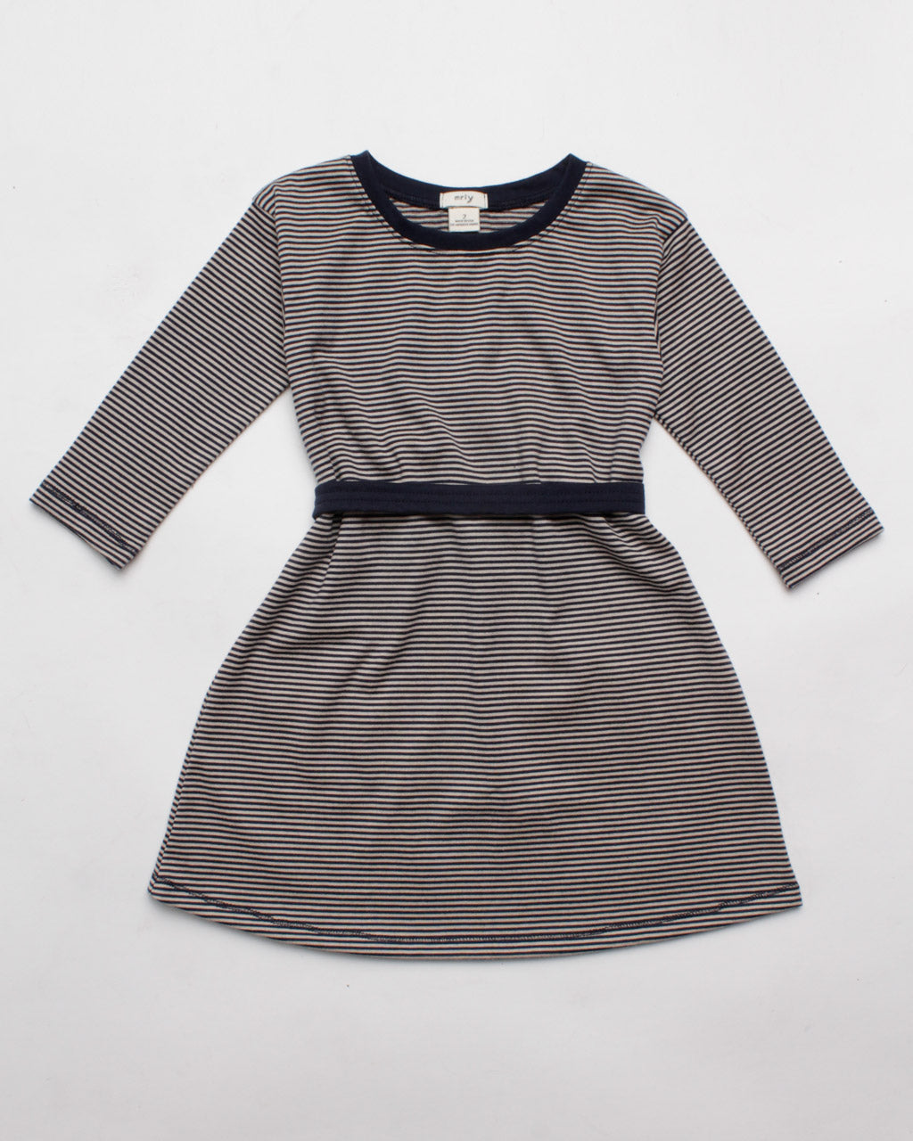 the two-way dress - navy microstripe