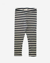 Load image into Gallery viewer, the stripe legging - cream/navy