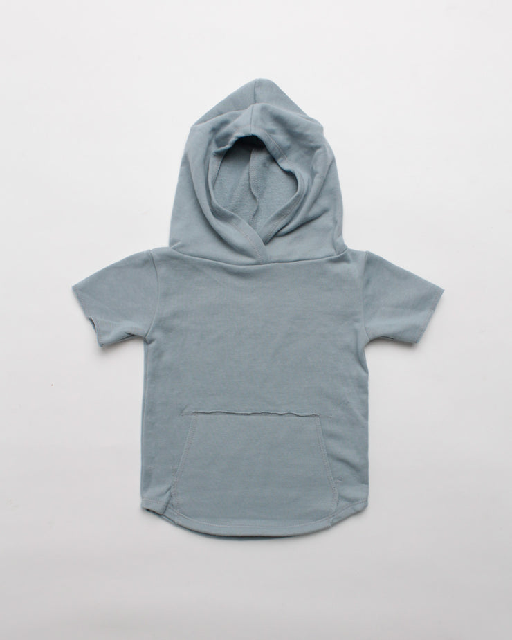 the cut-off hoodie - blue
