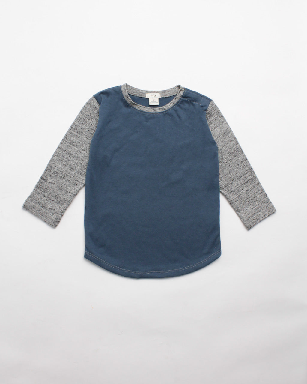 the colorblock tee - blue