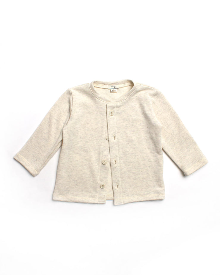 the cardigan - cream heather