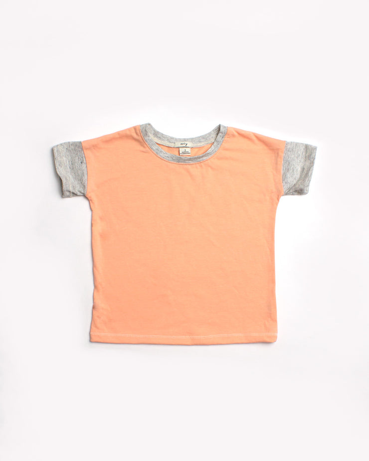 the colorblock tee - coral