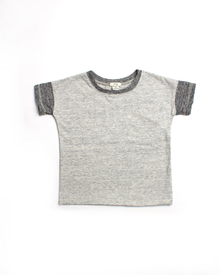 the colorblock tee - cream marl