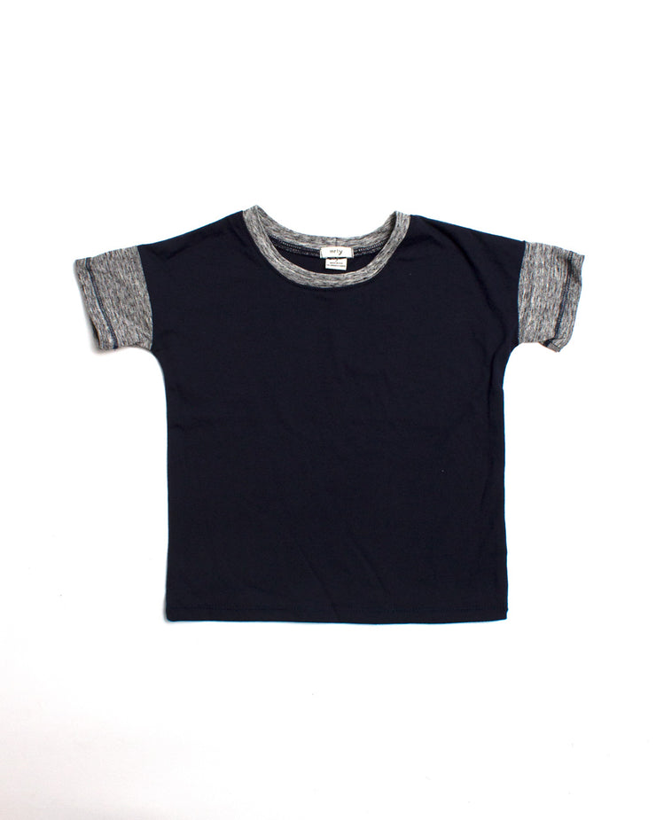 the colorblock tee - navy