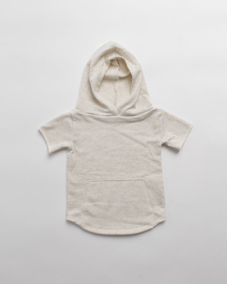 the cut-off hoodie - cream heather