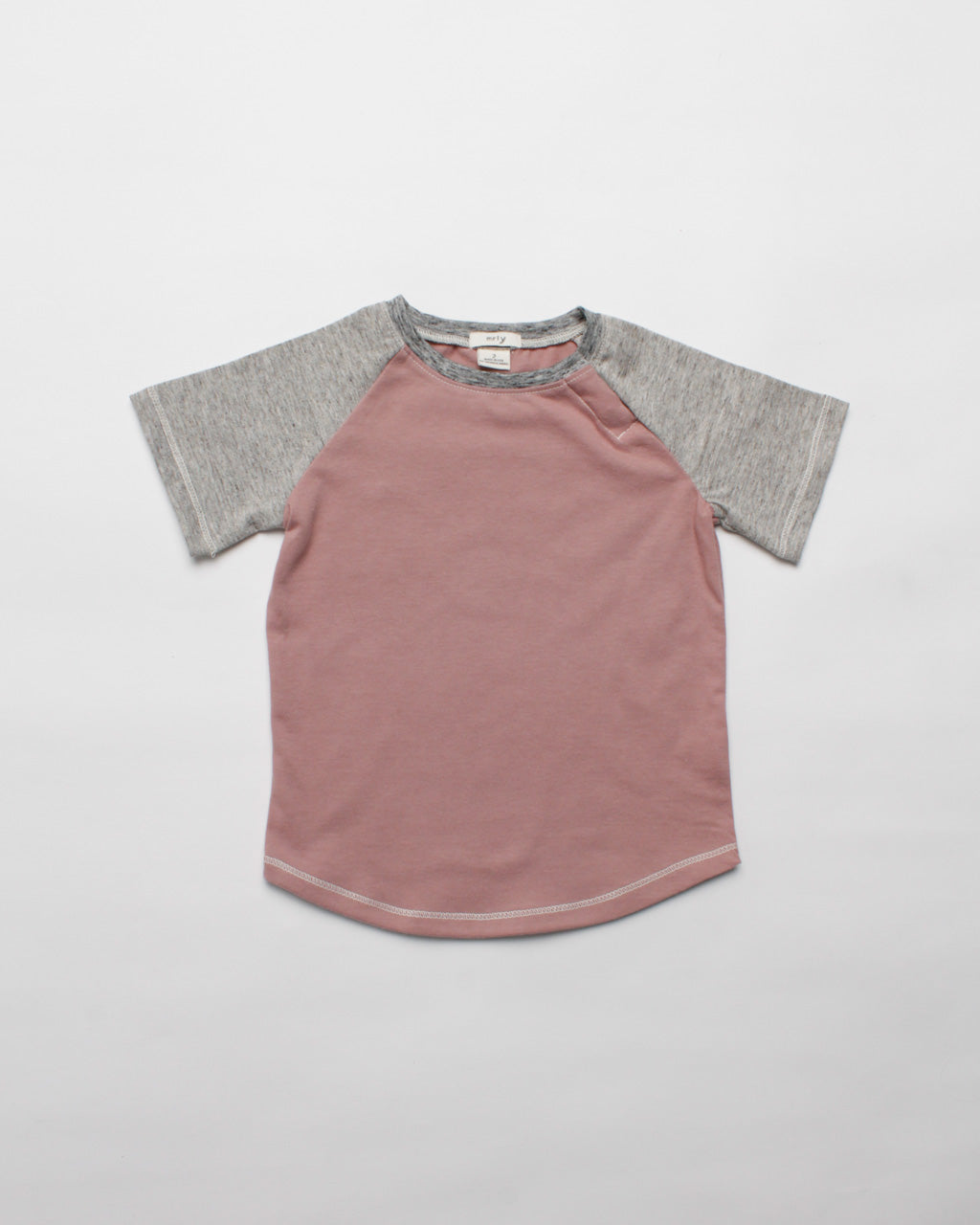 the baseball tee - dark pink