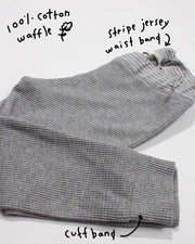 the waffle jogger - grey heather