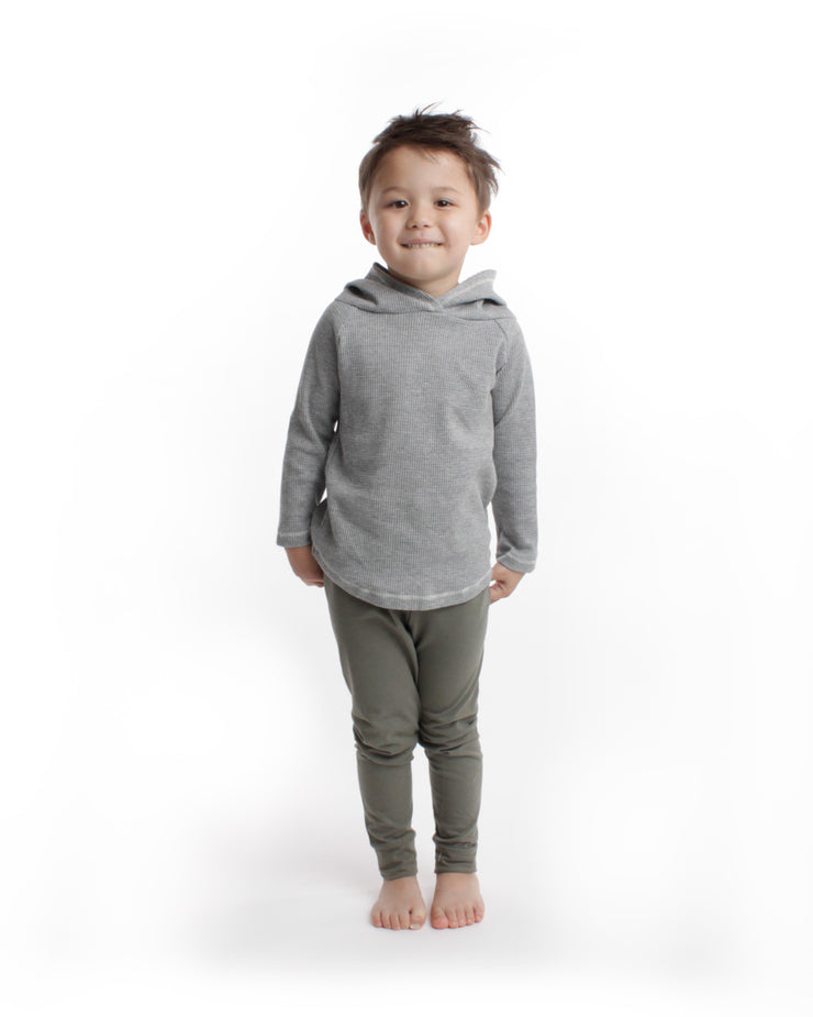 the waffle hoodie - grey heather