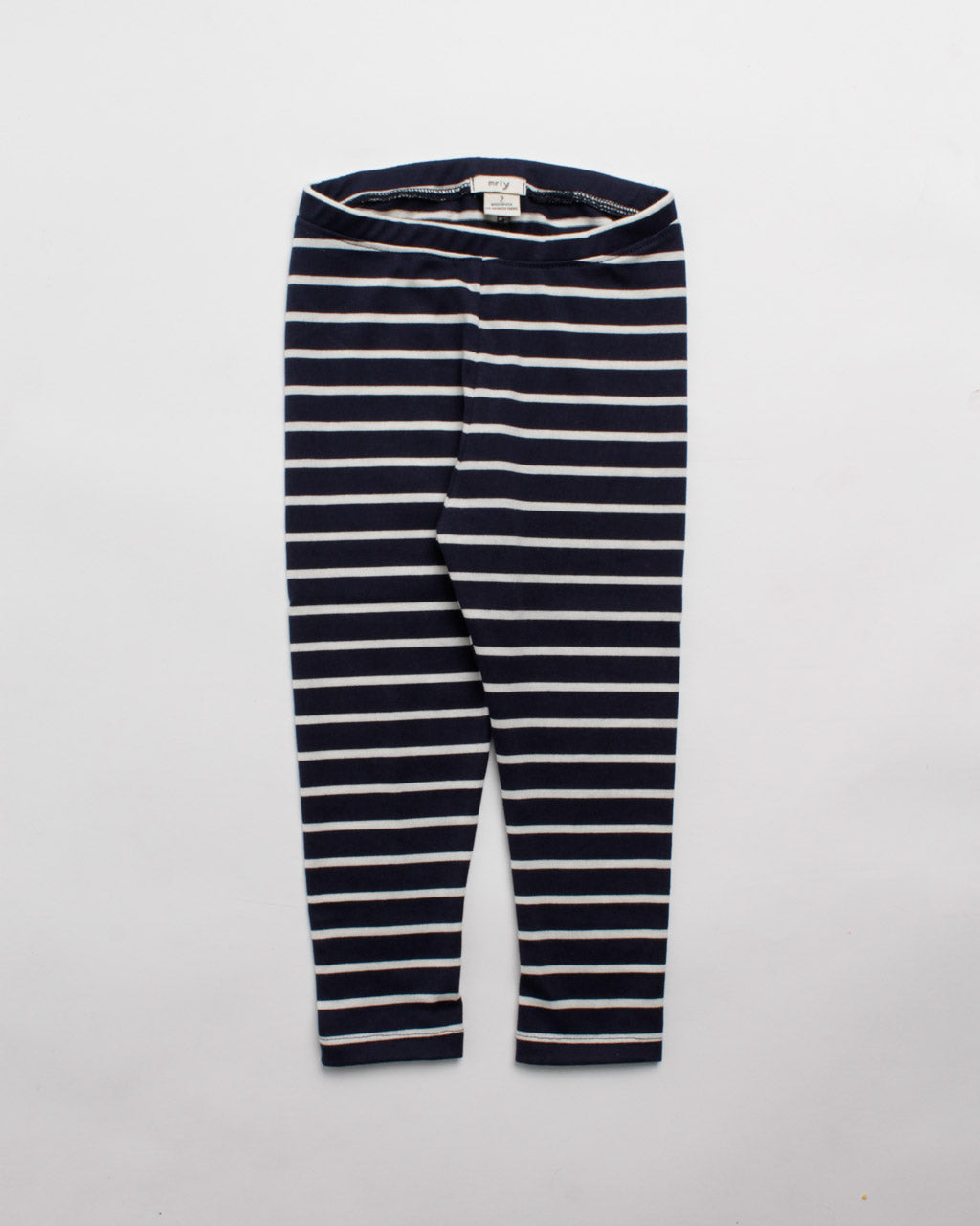 the stripe legging - navy/cream