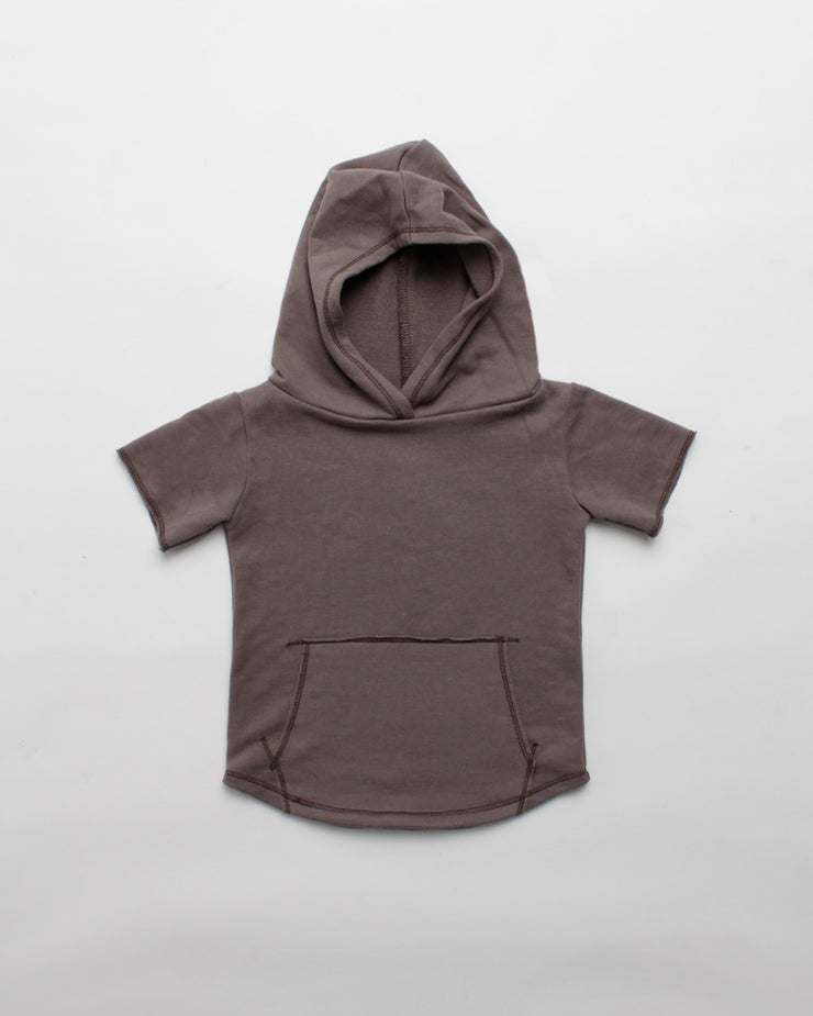 the cut-off hoodie - mocha