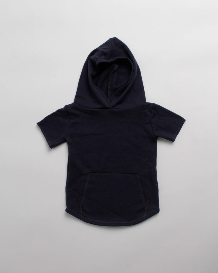 the cut-off hoodie - navy