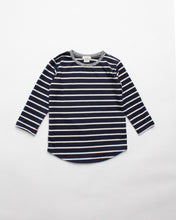 Load image into Gallery viewer, the stripe tee - navy