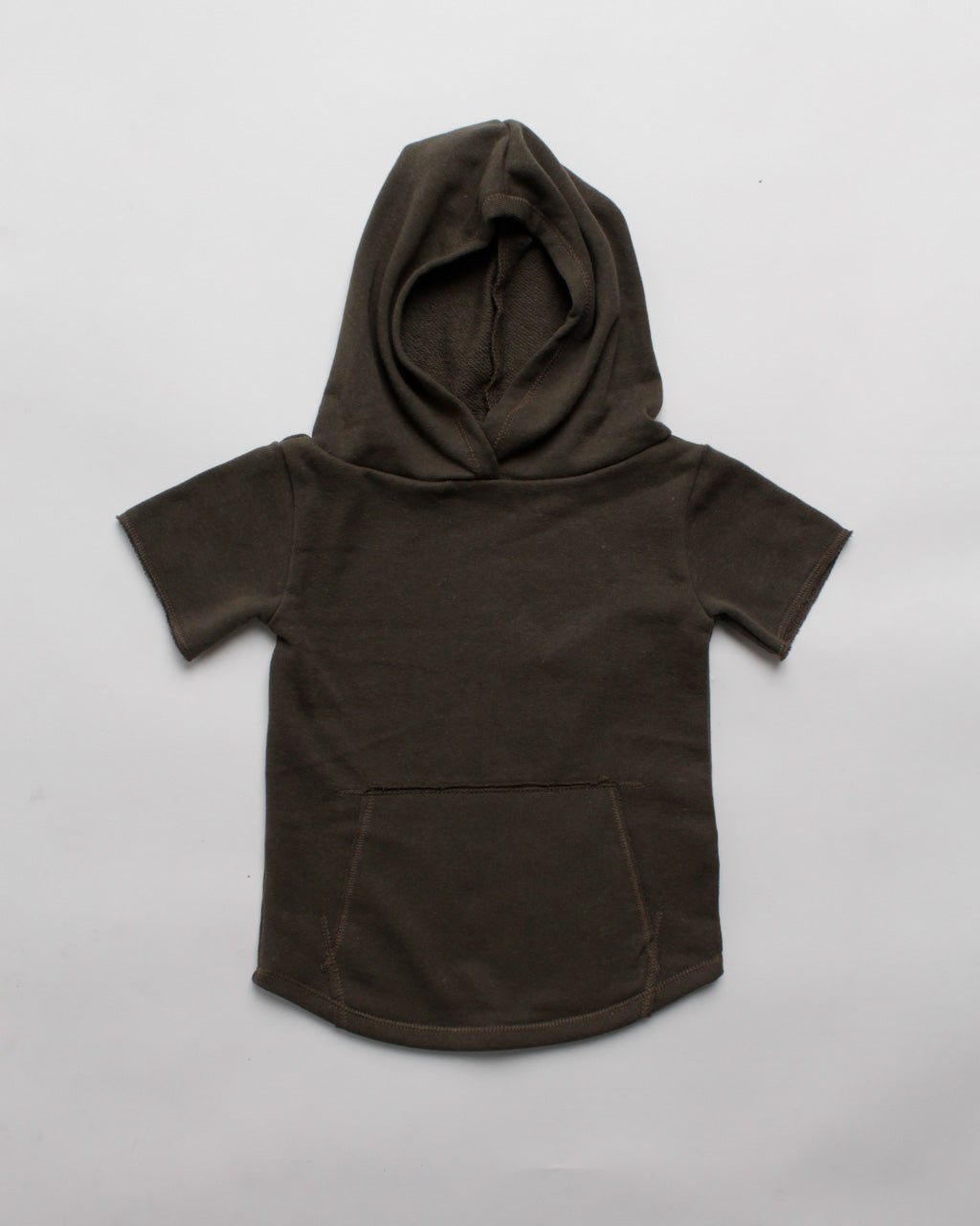 the cut-off hoodie - olive