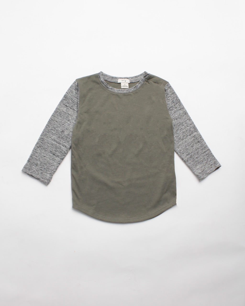 the colorblock tee - olive