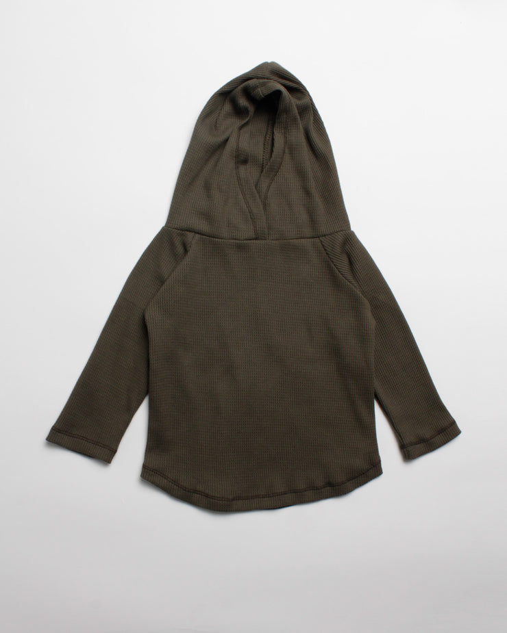 the waffle hoodie - olive