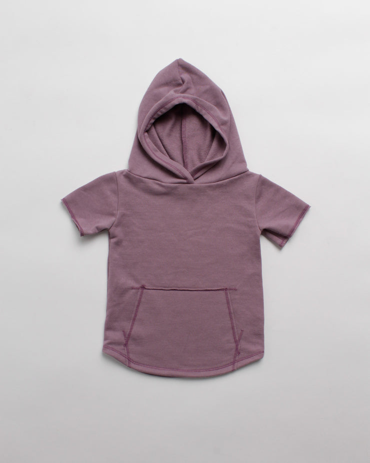 the cut-off hoodie - purple