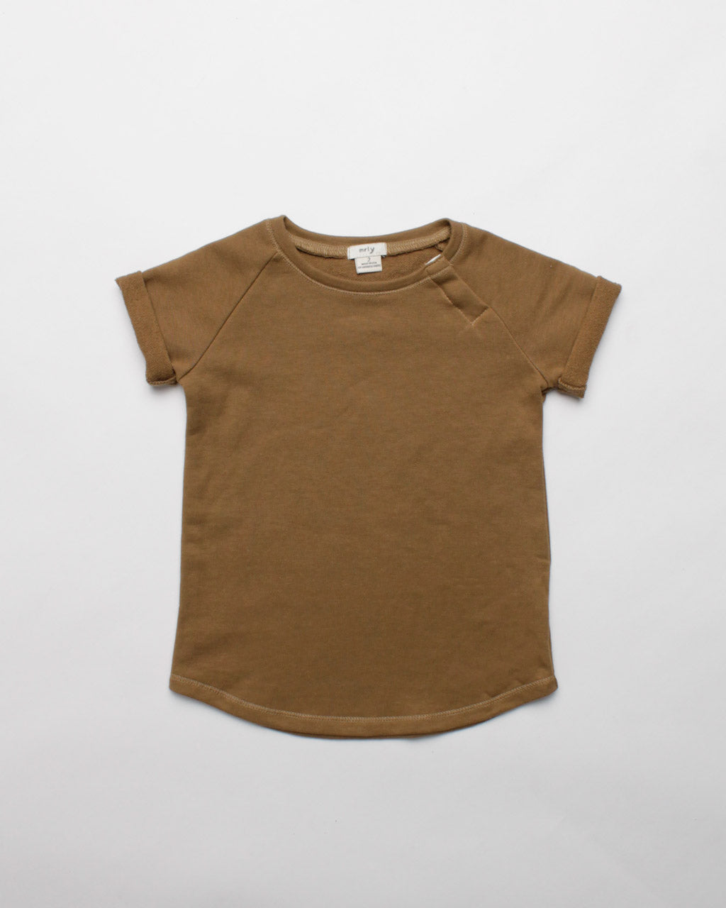the short sleeve crew - mustard