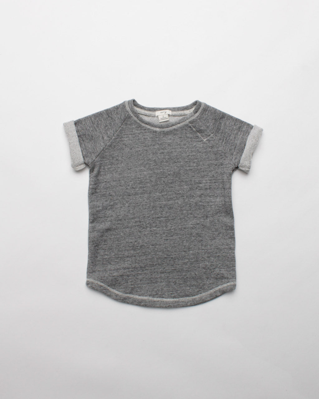 the short sleeve crew - grey heather