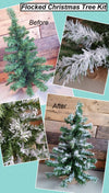 Bright White 2 x 6ft Large Christmas Tree, Real Snow effect DIY Flocking Kit