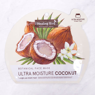 Healing Bird Botanical Face Mask Ultra Moisture - Coconut