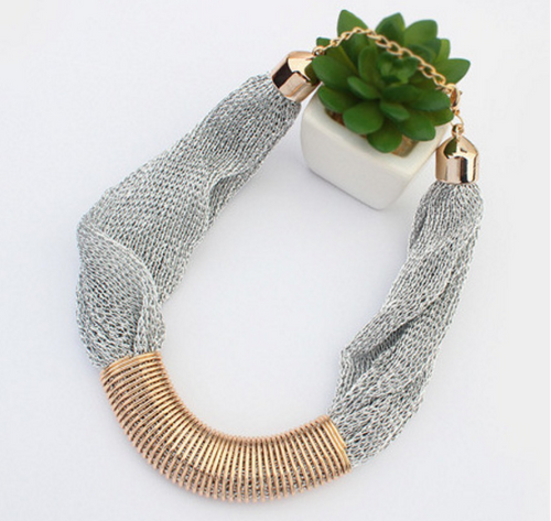 Amorous Fashion Jewelry Metal Mesh Necklace