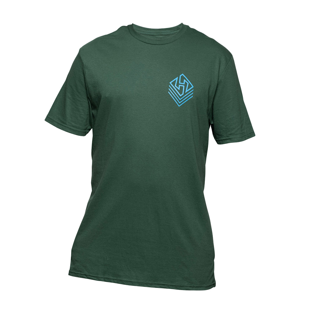 Hubboards Weekend Warrior Mens Tee - Army Green