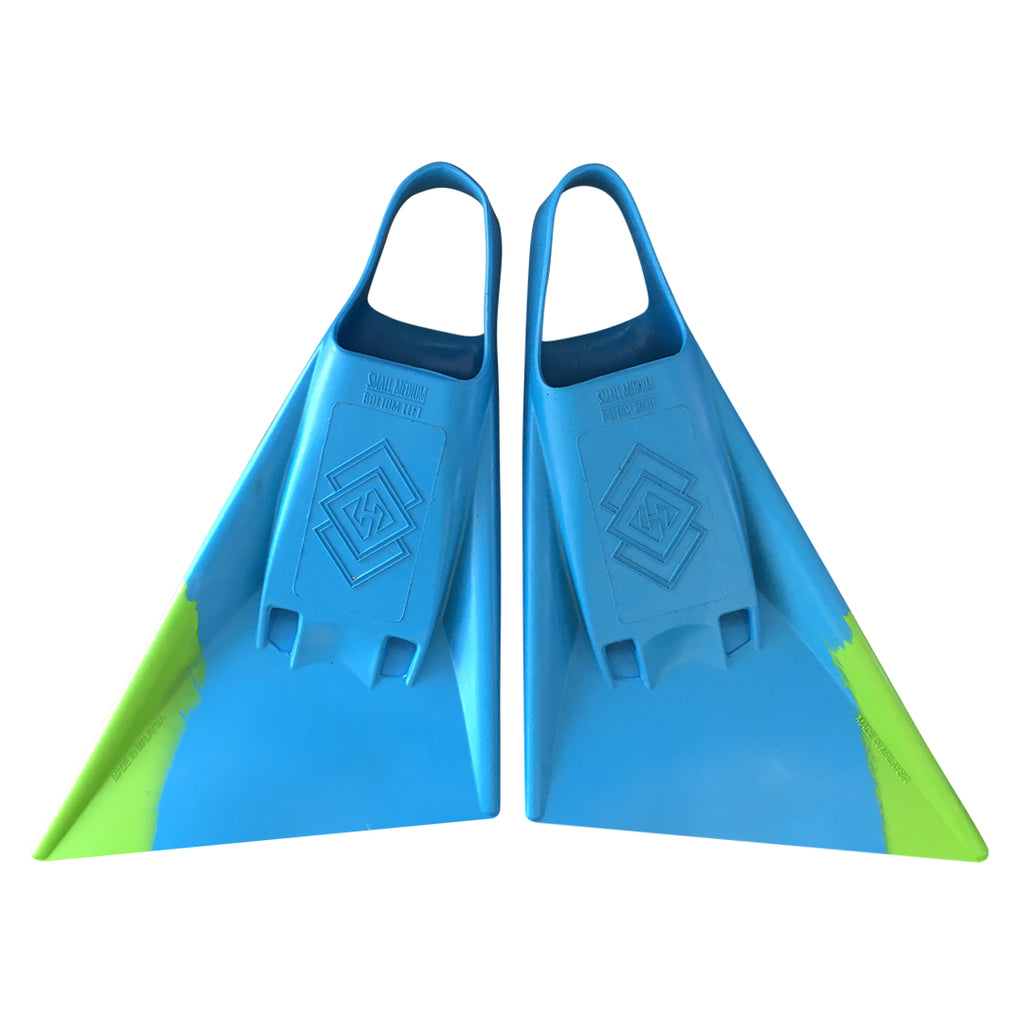Air Hubb Swim Fins - Aqua & Lime