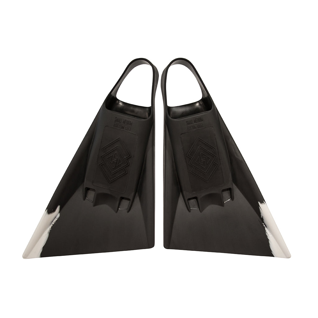 Air Hubb Swim Fins - Black & White