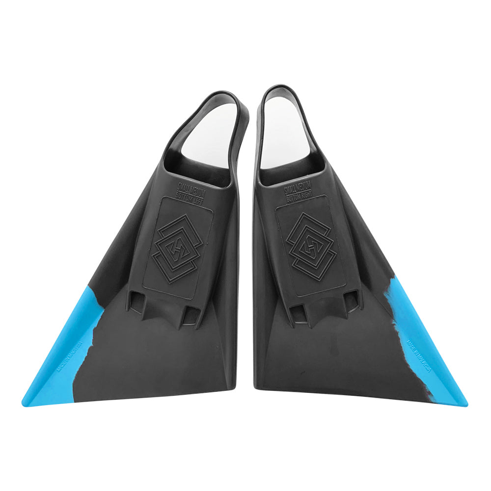 Air Hubb Swim Fins - Graphite & Aqua