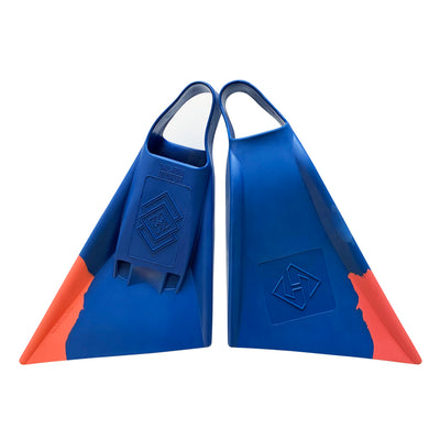 Air Hubb Swim Fins - Blue & Living Coral