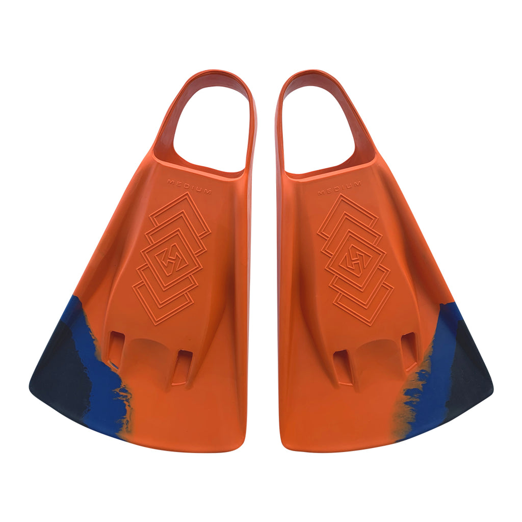 DubZero Swim Fins - Fire Orange