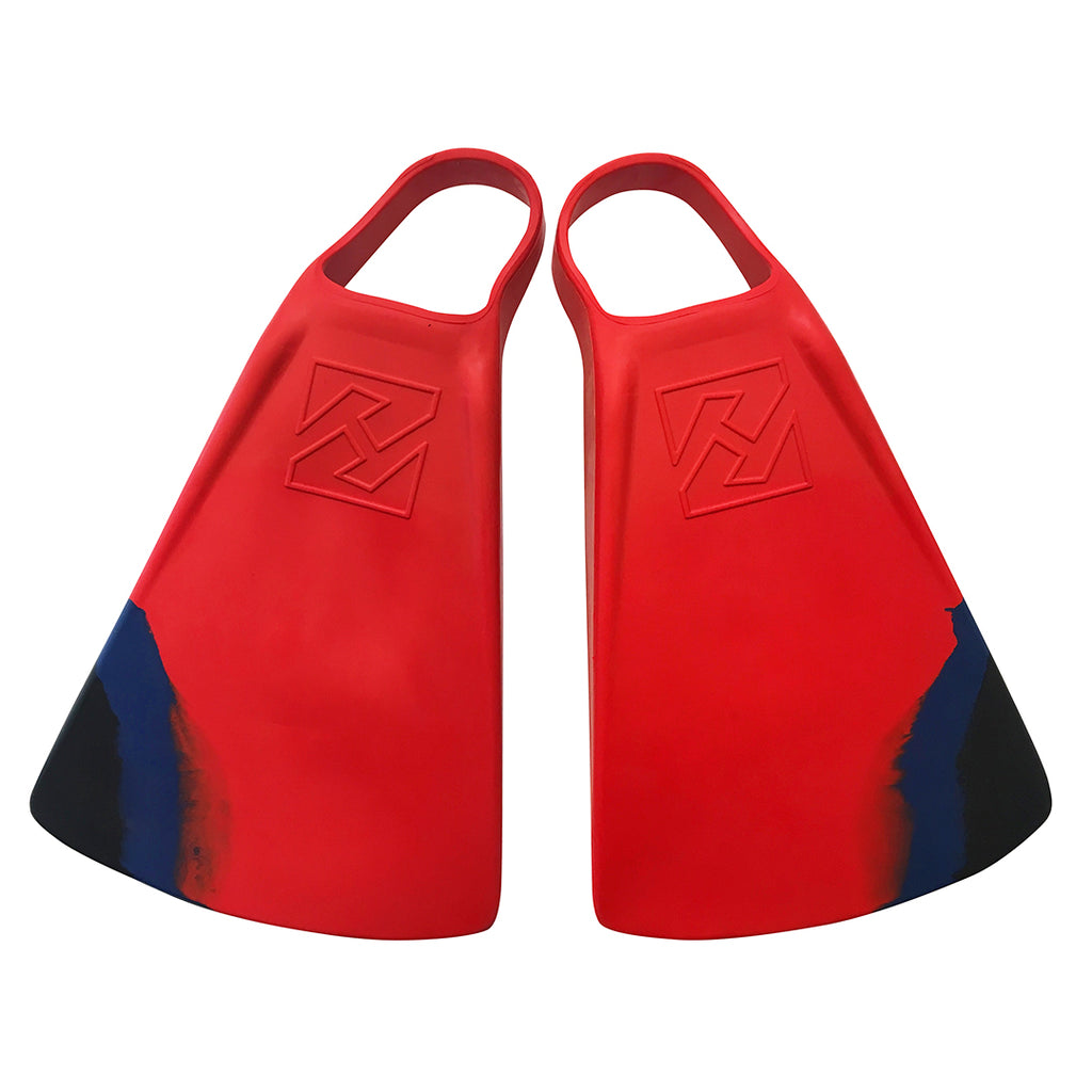 DubZero Swim Fins - Lava Red