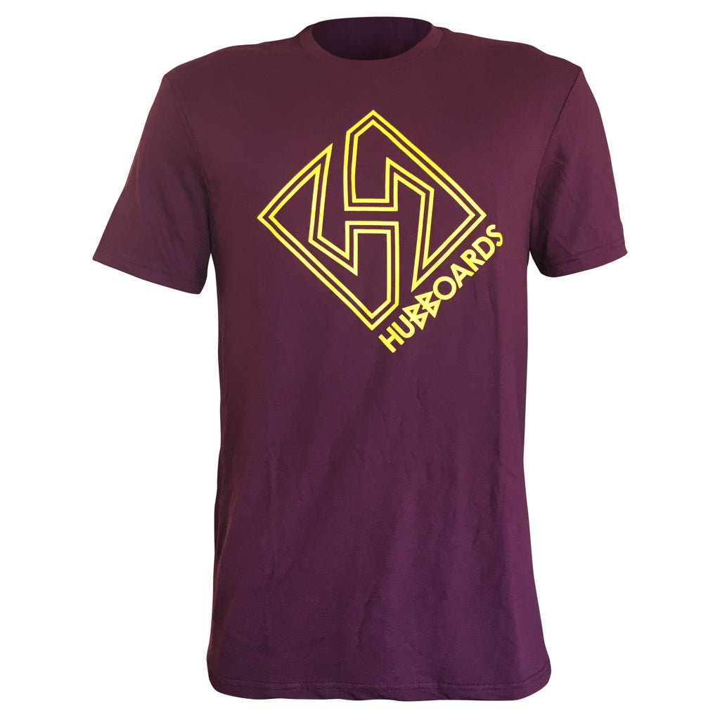 Hubboards Stay Gold Mens Tee - Maroon