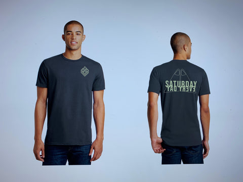 Hubboards Saturday Everyday Mens Tee - Graphite