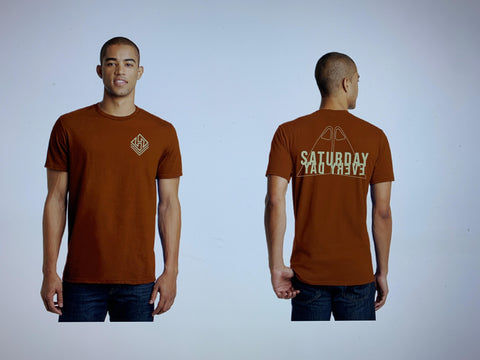 Hubboards Saturday Everyday Mens Tee - Burnt Orange