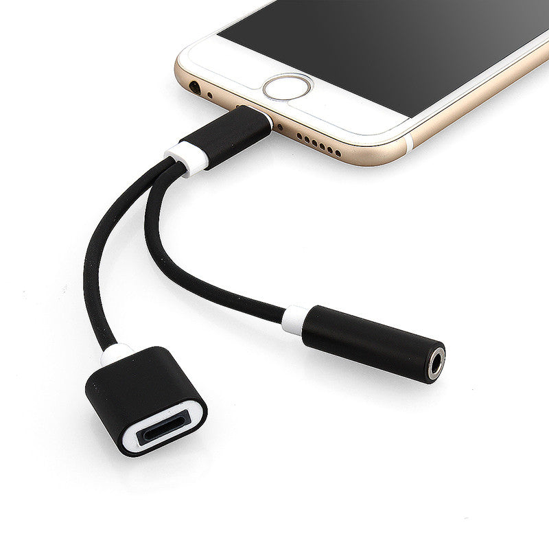 2 In 1 Headphone Charging Adapter For IPhone X 8