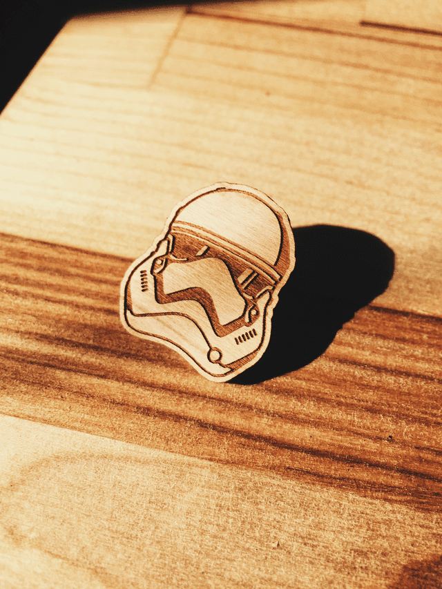 Aleksandar Savic Storm Trooper Wooden Pin