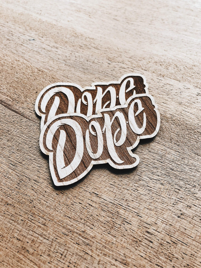 Dominique Prescott Dope Wooden Sticker Pack