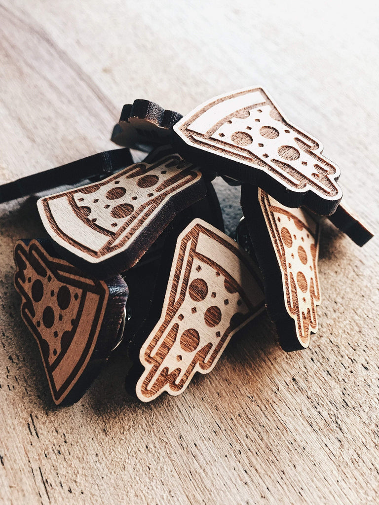 Jake Mize Cheesy Pizza Wooden Pin
