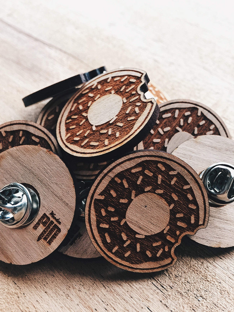 Jake Mize Doughnut Wooden Pin