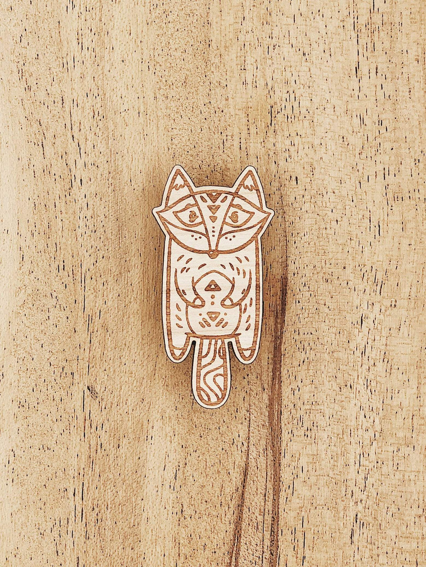 Jake Mize Fox Popsicle Wooden Pin