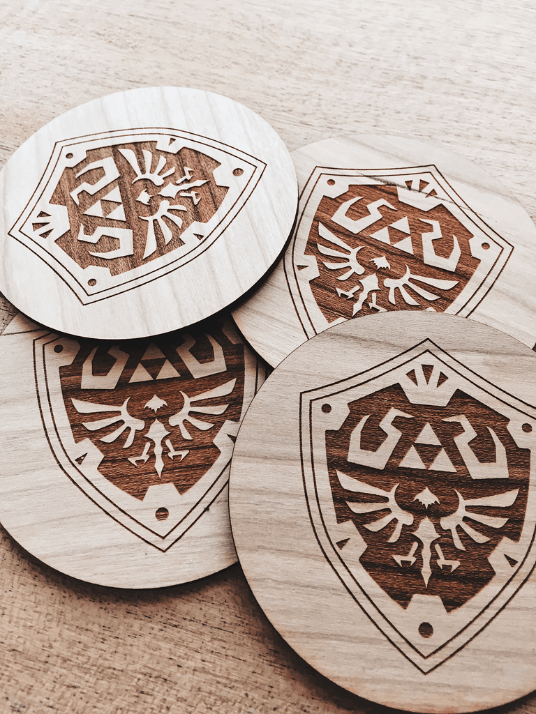 Jake Mize Hylian Shield Wooden Coasters