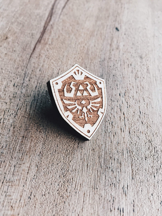 Jake Mize Hylian Shield Wooden Pin