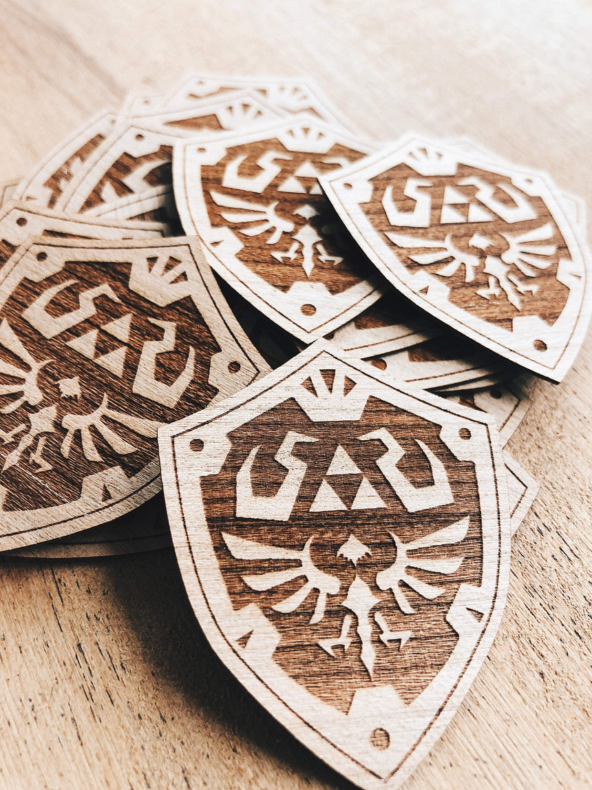 Jake Mize Hylian Shield Wooden Sticker Pack