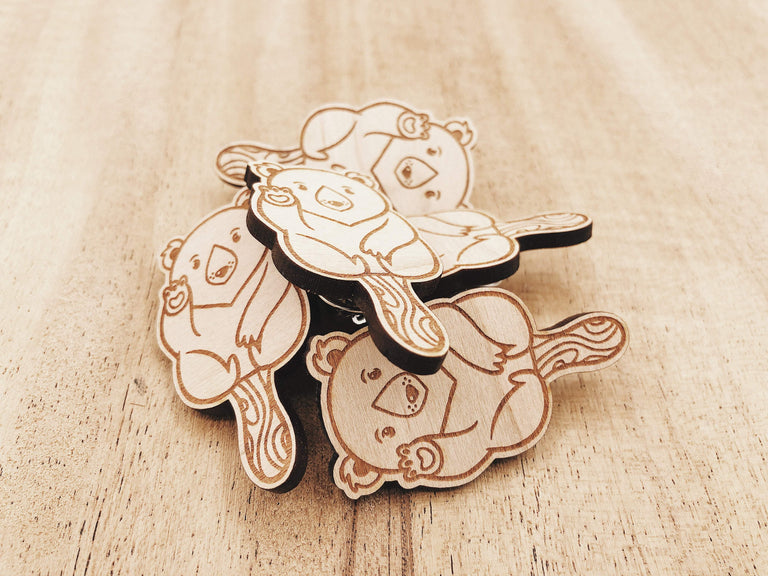 Jake Mize Polar Bear Popsicle Wooden Pin