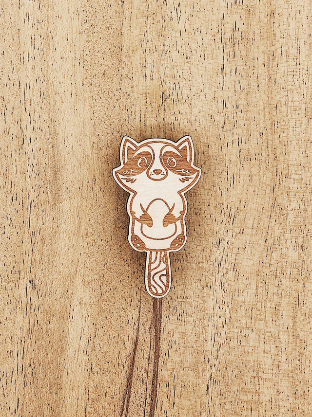 Jake Mize Raccoon Popsicle Wooden Pin